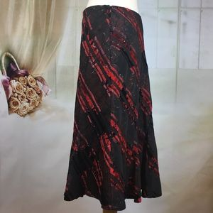 Simply French Skirts - Simply French Red & Black Trumpet Skirt
